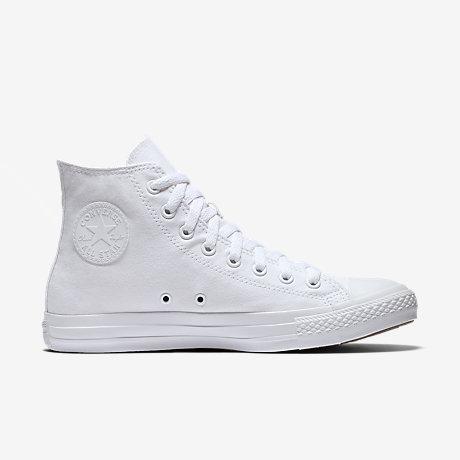 white high top converse converse chuck taylor monochrome high top unisex shoe. nike.com GZOWWZQ
