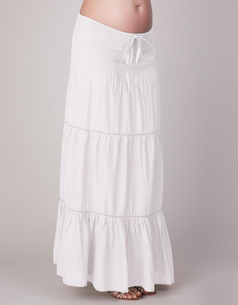 white maxi skirt white maternity maxi skirt STZMHLZ