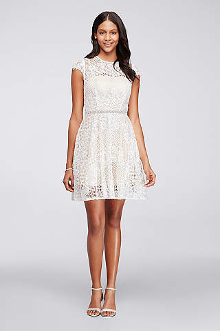 white party dress cocktail dresses for parties, weddings, or any occasion | davidu0027s bridal JGTUULA