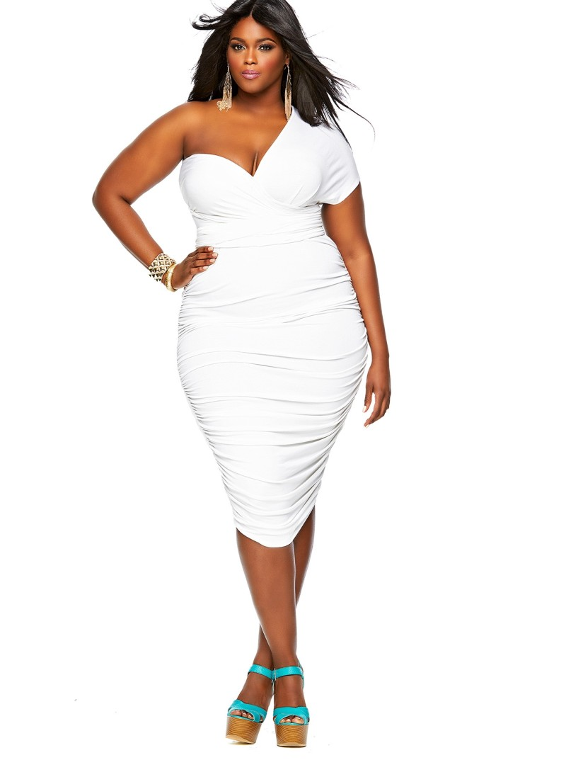 white party dress monif c marilyn convertible plus size dress IJGRTIR