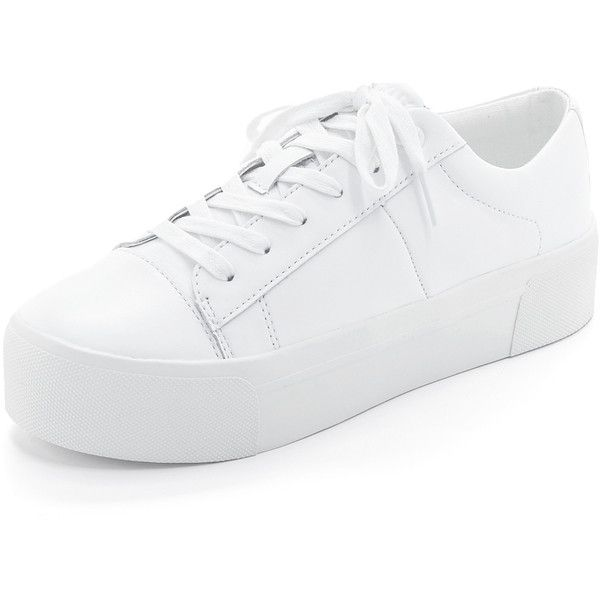 white platform sneakers dkny bari platform sneakers (193,475 krw) ❤ liked on polyvore featuring  shoes, sneakers FCRVYTA