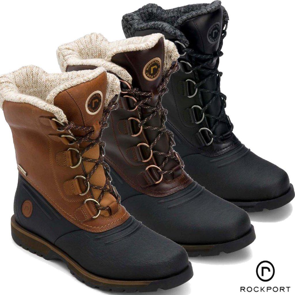 winter boots for men mens winter snow boots uk EJINZJU