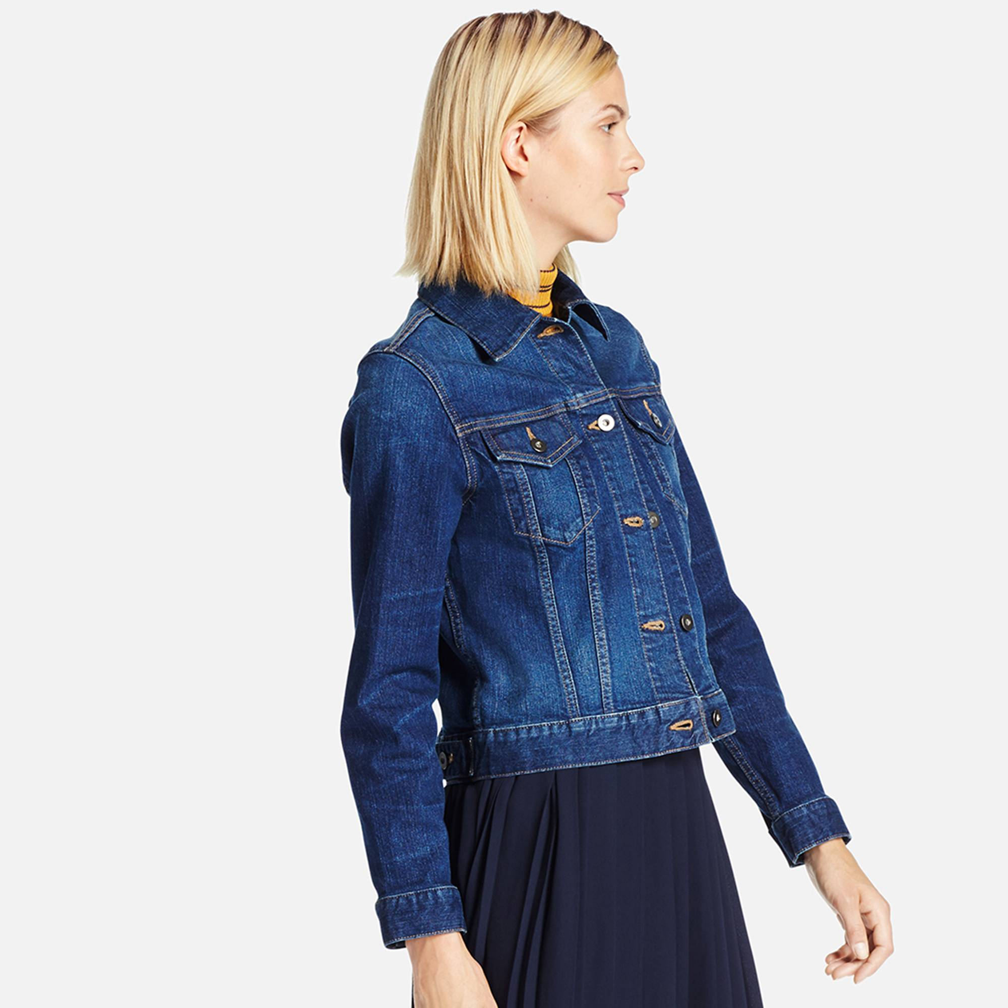 women denim jacket, blue, small JOUTMBC