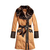 womens coat wool FLNDQKJ