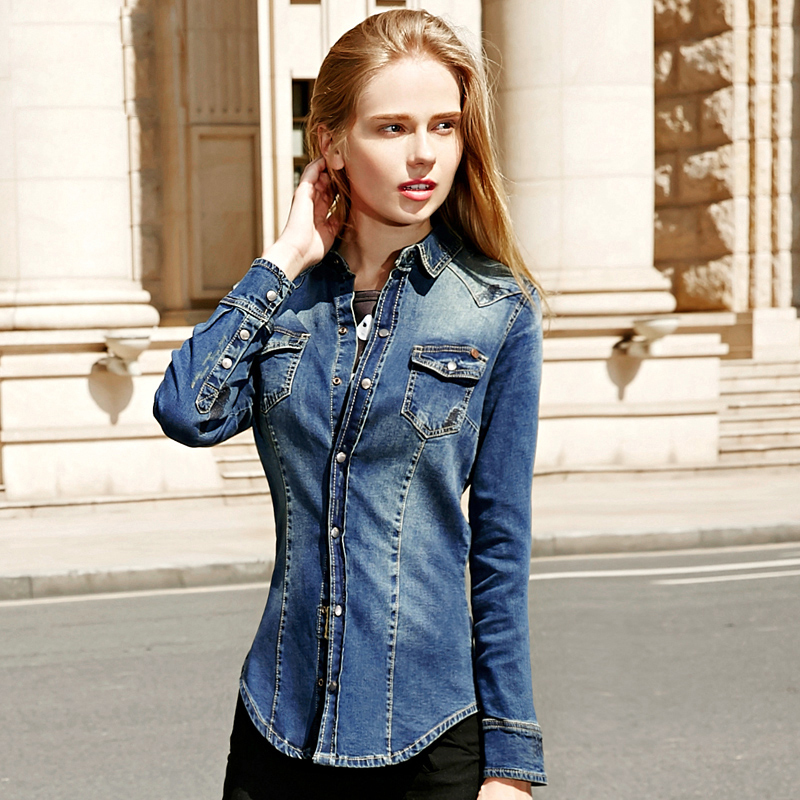 womens denim shirt different ways to wear denim shirt with jeans, pants, skirts, trousers AVSRNXX
