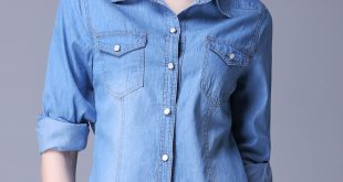 womens denim shirt undefined EPDNFHH