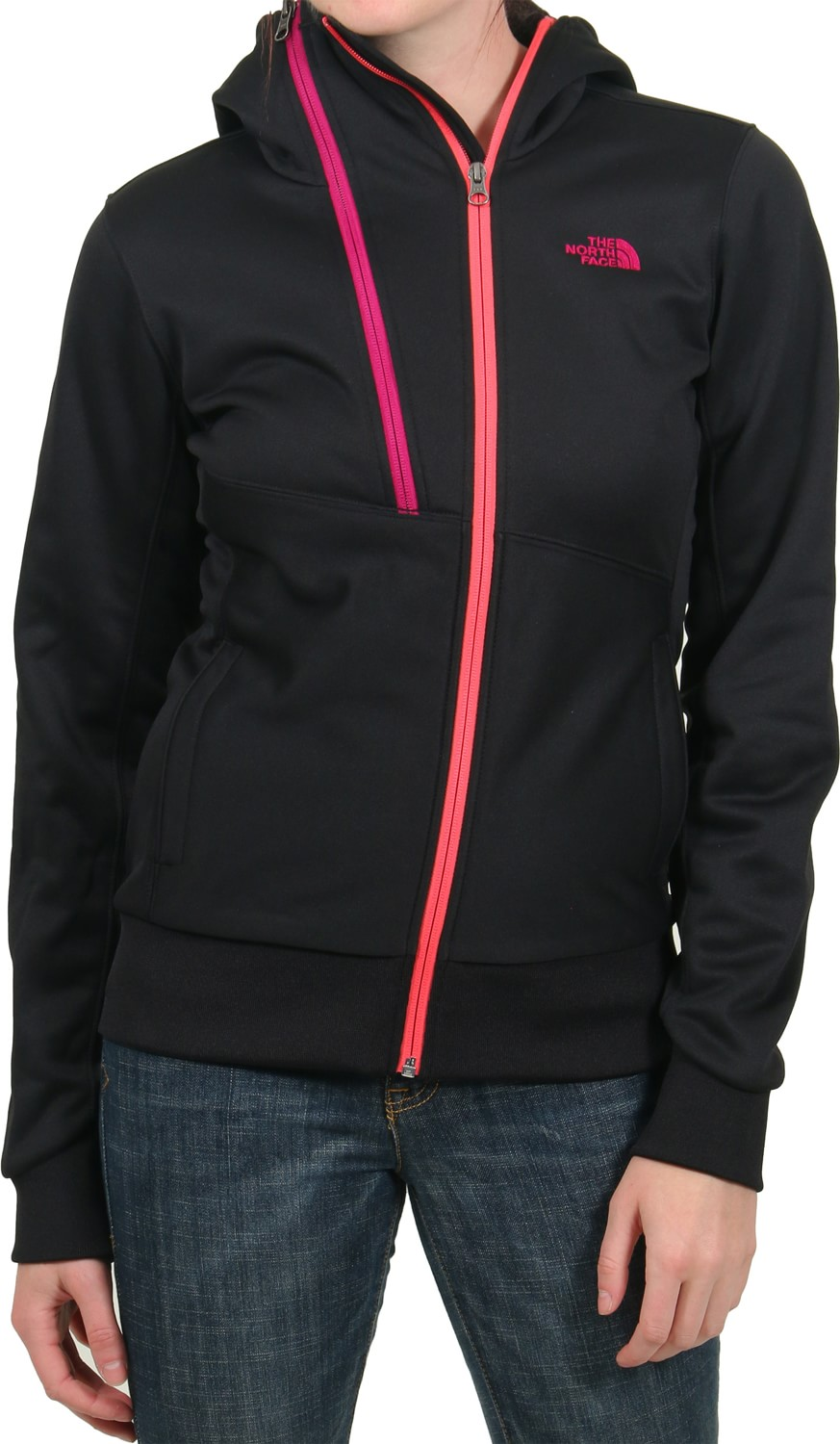 womens hoodies the north face womenu0027s thatch hoodie - tnf black/tnf black QEUVDUJ