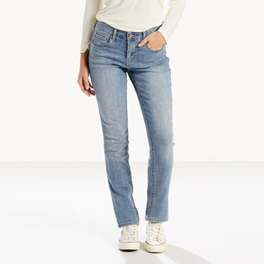 womens jeans 505 straight leg | sleek blue | leviu0027s® us NLYBGHE