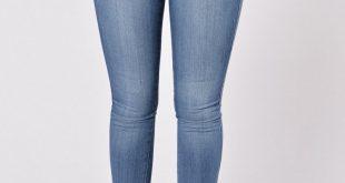womens jeans classic mid rise skinny jeans - medium blue CSPSGNT