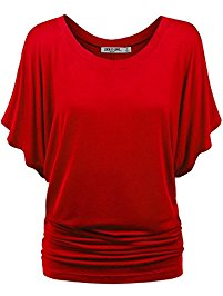 womens tops ll womens boat neck dolman top - made in usa AUAVEBY