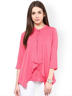 womens tops rare casual 3/4th sleeve solid womenu0027s pink top NDRLBAD