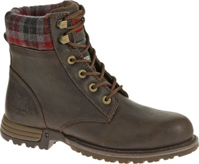 work boots for women kenzie steel toe work boot, bark, dynamic ... VUPRZDE