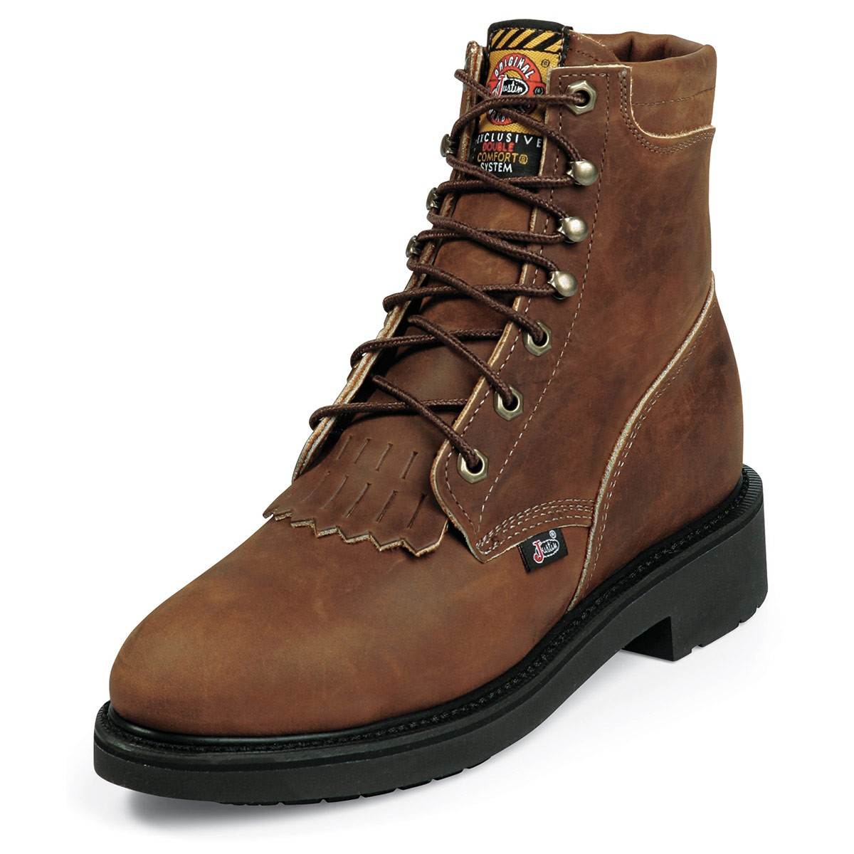 work boots for women womenu0027s justin workboots - 6 inch - lace-r - steel toe - eh - aged AOEPYCW