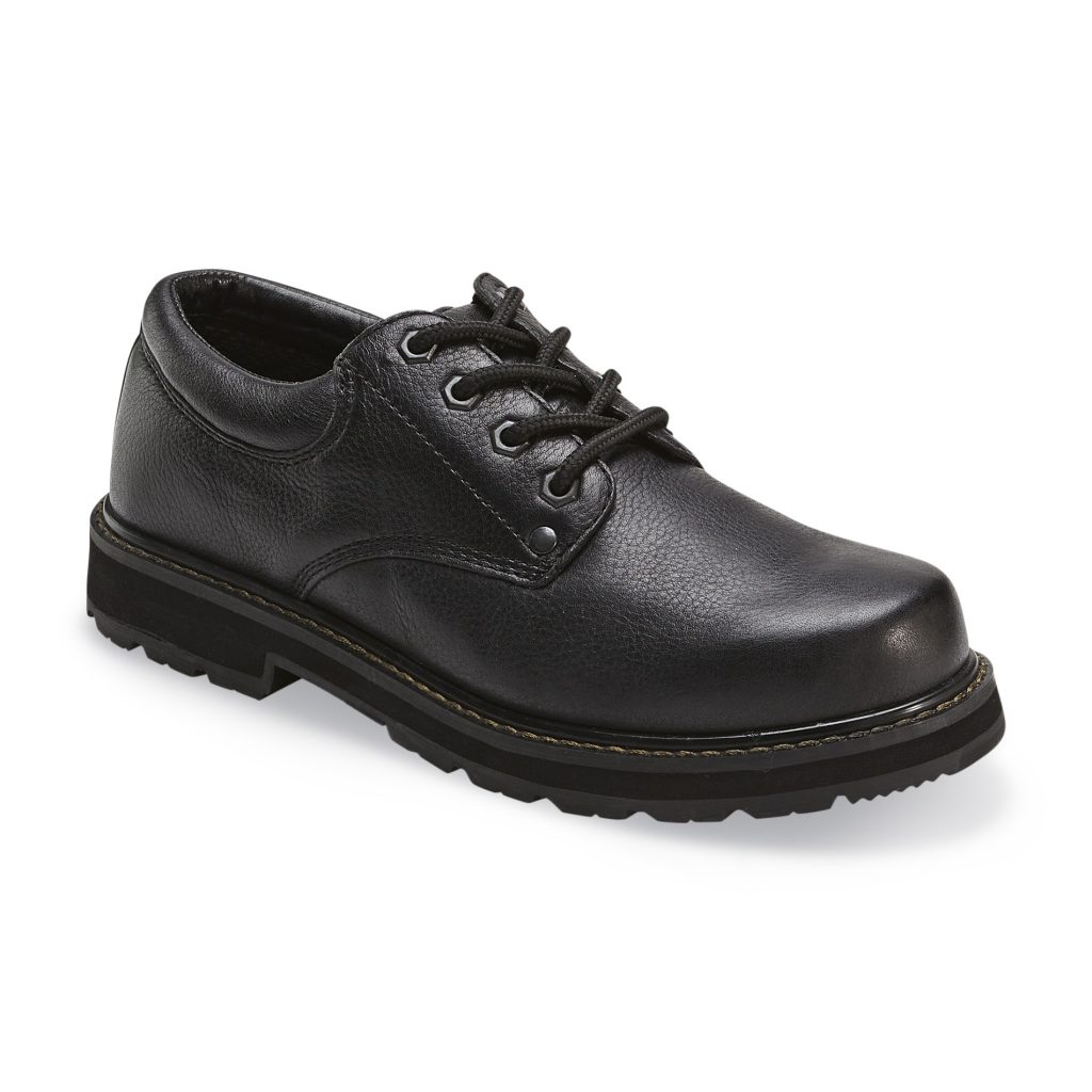 work shoes dr. schollu0027s menu0027s harrington slip resistant work shoe wide width available  – black HKZUPTR