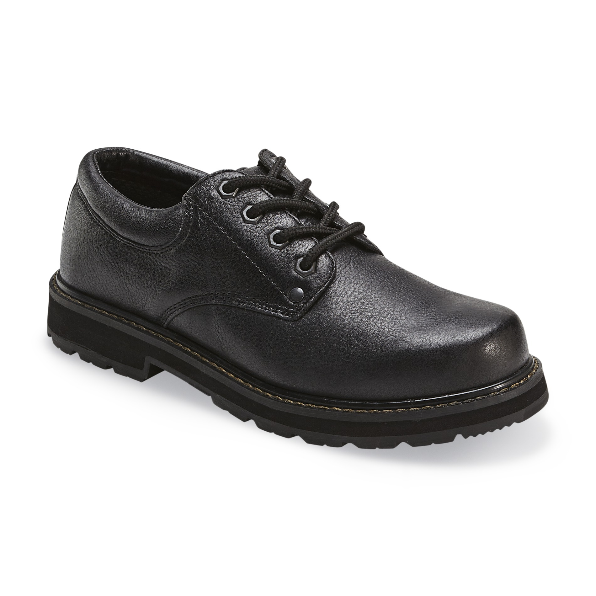 work shoes dr. schollu0027s menu0027s harrington slip resistant work shoe wide width available  - black HKZUPTR