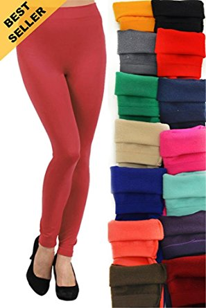 yelete womenu0027s seamless kermo fleece legging,one size fits most JUKCETT