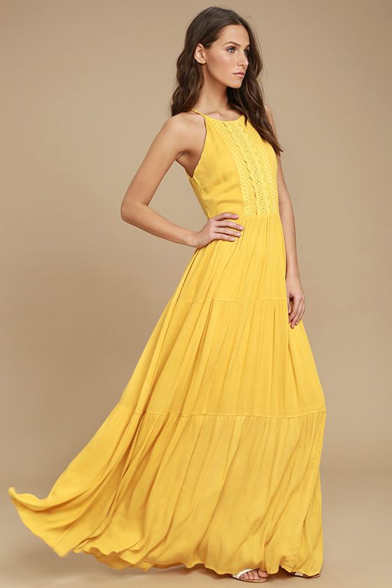yellow maxi dress for life golden yellow embroidered maxi dress 1 QFMEUCQ