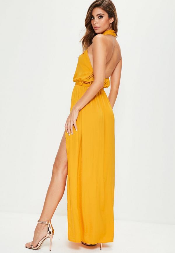 yellow maxi dress yellow twist neck maxi dress. $76.00. previous next YILYGPE