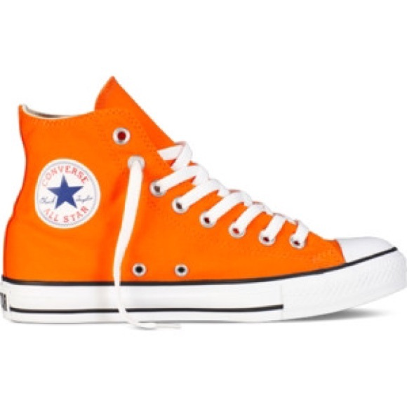 authentic orange converse sneakers | high tops KEQXWUA