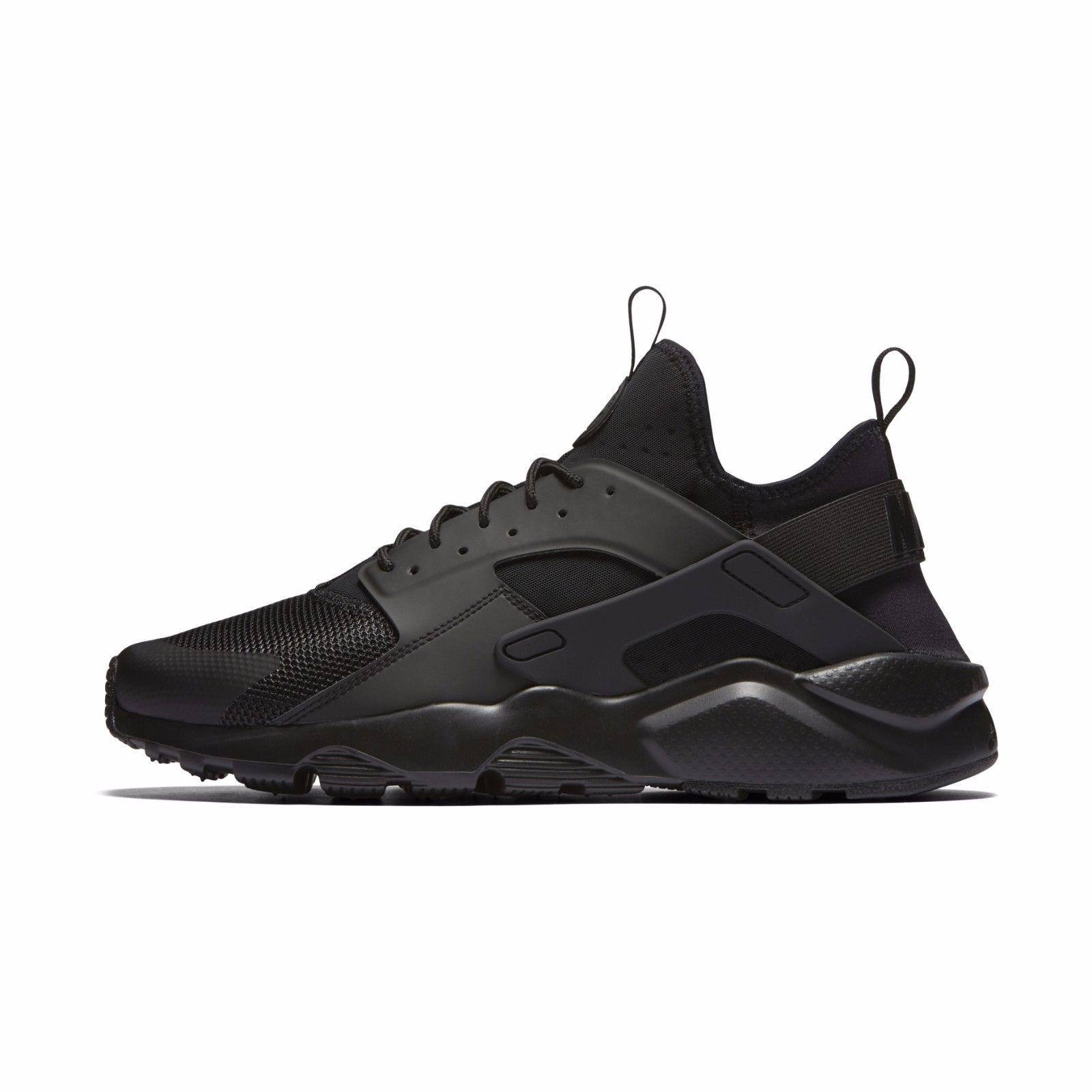 Black Running Shoes nike mens air huarache run ultra triple black running shoes sneakers  819685-002 MZFTRTX