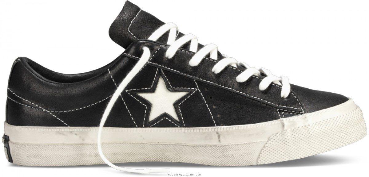 Converse john varvatos one star converse john varvatos one star low top black/ dove 145368 VEGANSJ