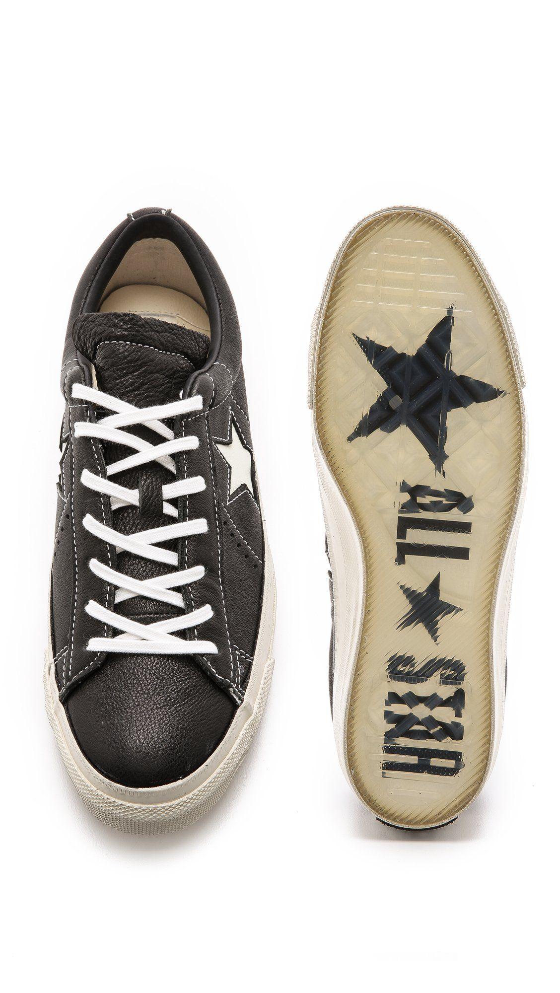 Converse john varvatos one star converse x john varvatos menu0027s john varvatos one star sneakers,  black/turtledove LNBNVLF