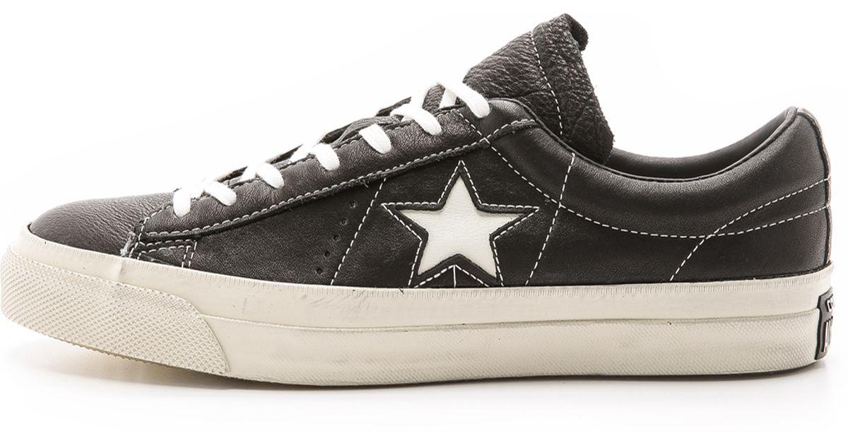 Converse john varvatos one star lyst - converse john varvatos one star sneakers in black for men LRXPUDQ