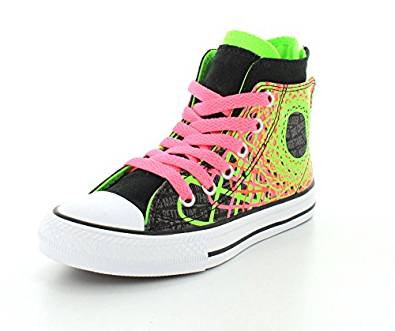 Girls Converse Shoes amazon.com | converse girls chuck taylor all star zipback black/green  gecko/neo pink RJNLBAY