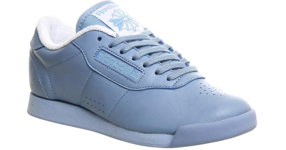 lyst - reebok princess trainers in blue QXLUSVT