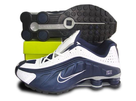 menu0027s nike shox r4 trainers darkblue white RJHAEST