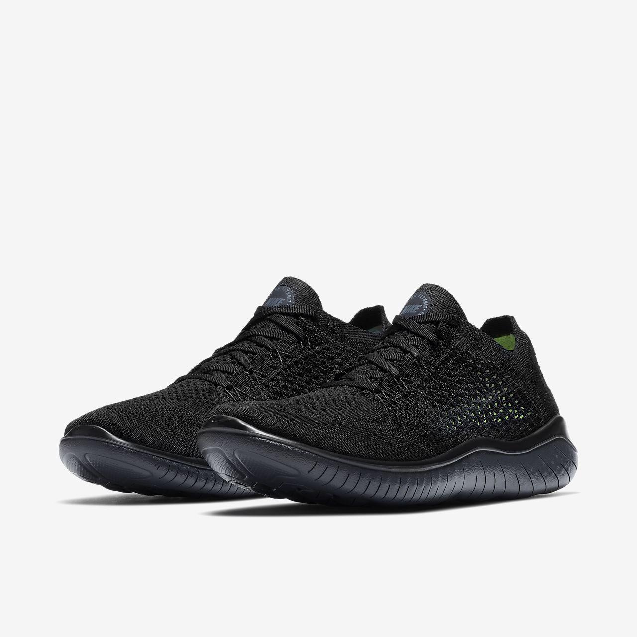 Nike Free Black shoes ... nike free rn flyknit 2018 menu0027s running shoe FKFWKLG