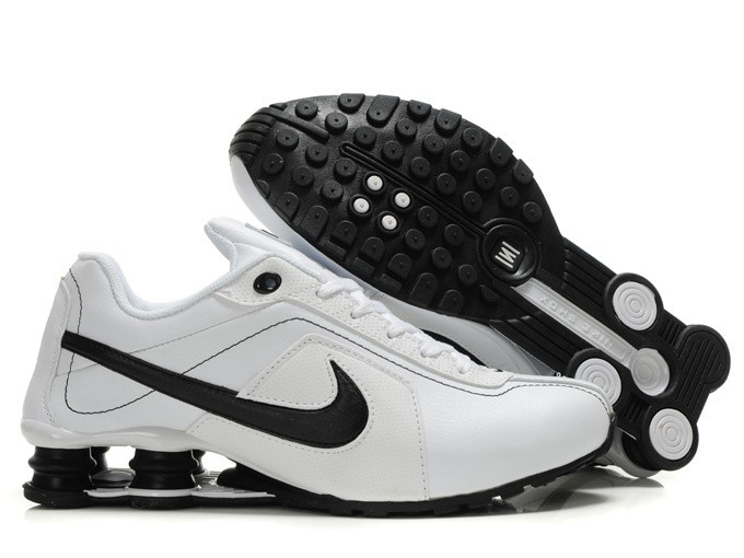 nike shox r4 - menu0027s running shoes white/black LWOCZHM