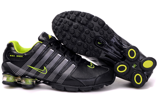 nike shox r4 nike menu0027s shox r4 air cushion pu shoes black green OZPUIQW
