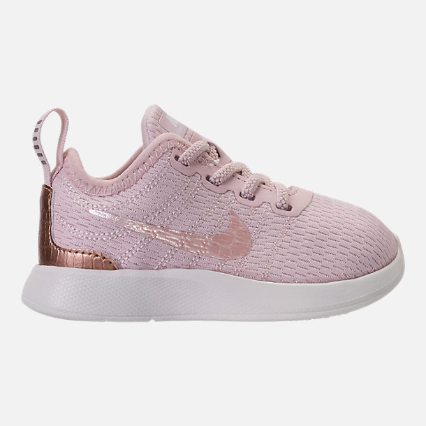 nike toddler shoes right view of girlsu0027 toddler nike dualtone racer casual shoes in barely ACRNWGZ