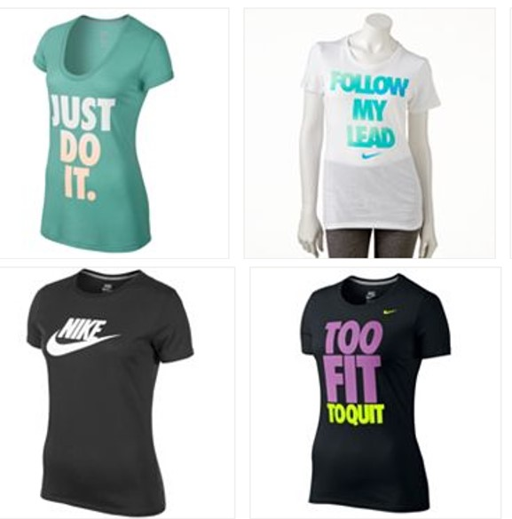 nike workout clothes kohls womenu0027s nike shirts SZKRZPW
