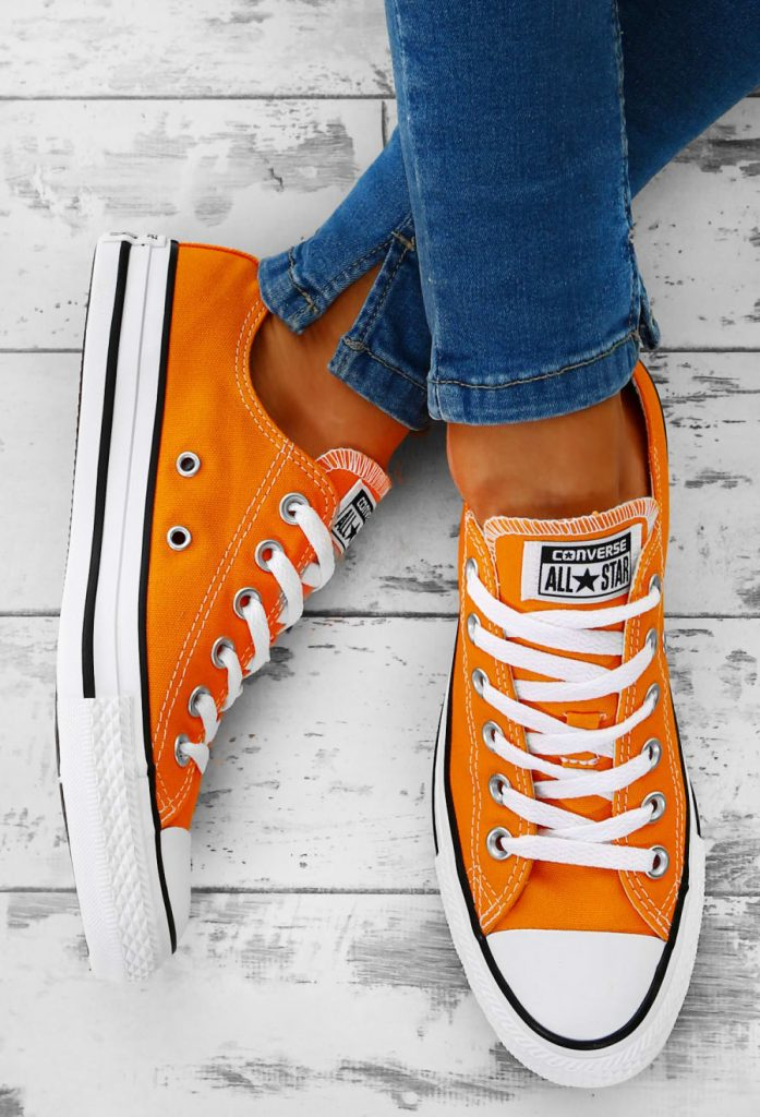 orange converse converse chuck taylor all star orange trainers AEGXFOX