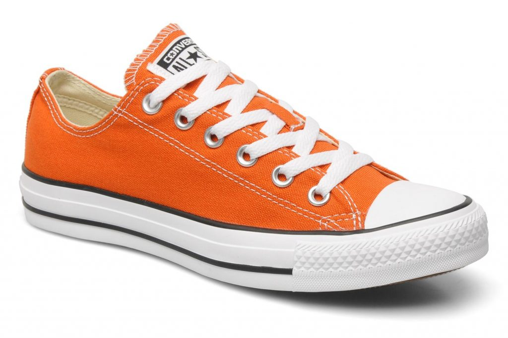 orange converse trainers converse chuck taylor all star ox w orange detailed view/ pair view LFXSEPS