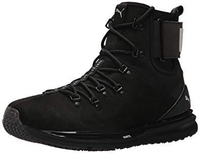 puma boots puma menu0027s ignite limitless boot leather sneaker, black black, ... TVQLRLI