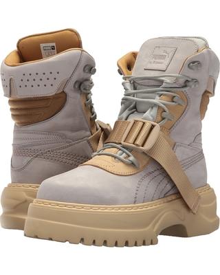 puma boots puma - puma x fenty by rihanna nuckbuck leather winter boot (dove/lark) GXJYJKS