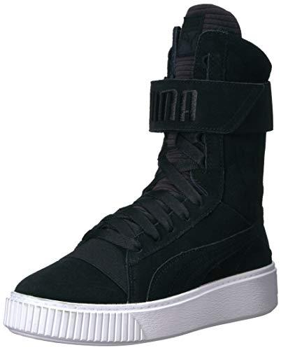 puma boots puma womenu0027s platform boot quil wn, black black, ... GXPRAYR
