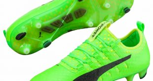 Puma cleats puma evopower vigor 1 fg soccer cleats (green gecko/puma black/safety yellow XRNVRZL