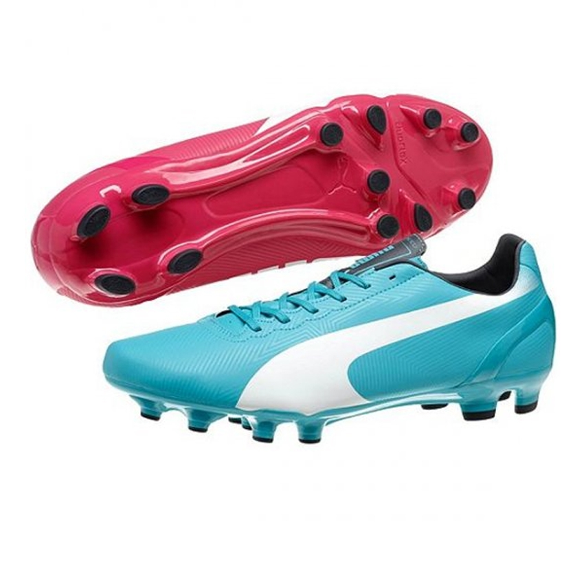 Puma cleats puma evospeed 4.2 fg soccer cleats (beetroot purple/bluebird/white) GAKAOEX