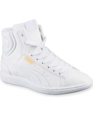 puma high tops puma white vikki deboss high-top sneakers TYVJCSW
