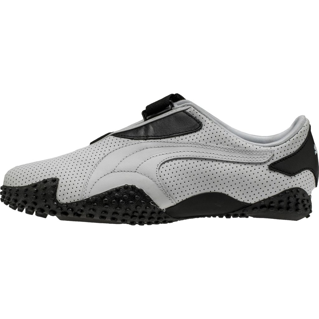 puma mostro perf leather menu0027s - white/black BSGABWF