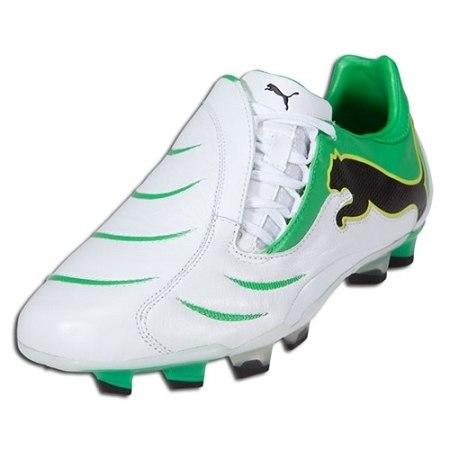puma powercat 2.10 fg - white/green rc (101317) ZJTPVIF