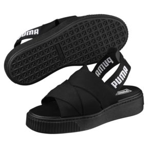 Puma sandals thumbnail 1 of platform womenu0027s sandals, puma black-puma black, medium UWMKTQL