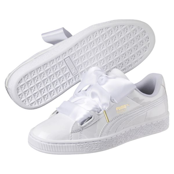 puma sneaker image 1 of basket heart patent womenu0027s sneakers, puma white-puma white,  medium ZRKIHLP