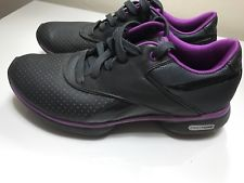 reebok easytone sneakers fitness shoes womens sz us 6 eu 36 gray leather QOZYHTJ