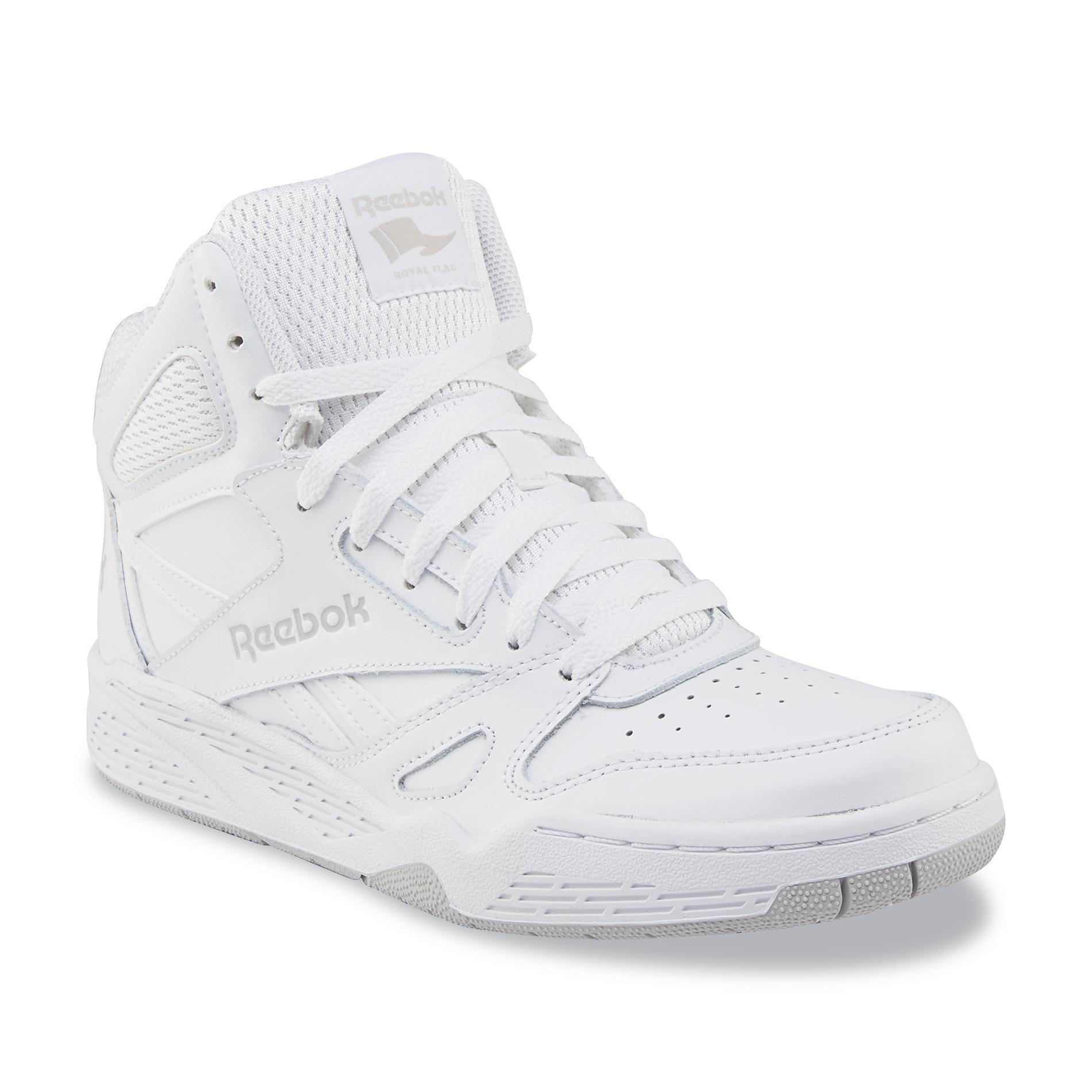 reebok high tops reebok reebok menu0027s royal bb4500 high-top leather basketball shoe - white RHRPFQS