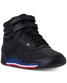 reebok high tops reebok womenu0027s freestyle high top casual sneakers from finish line KWGOSJT
